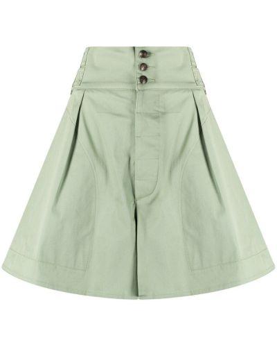 Зеленые хлопковые шорты с карманами Etro