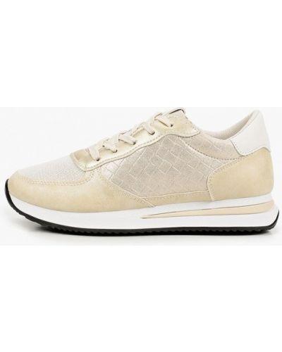 Текстильные бежевые кроссовки Ideal Shoes®