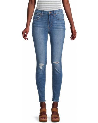 Хлопковые зауженные джинсы-скинни с карманами Madewell