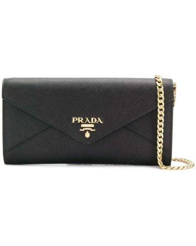 Кожаная сумка на цепочке маленькая Prada