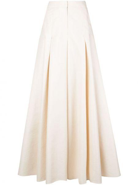 Szerokie spodnie z wysokim stanem z kieszeniami Carolina Herrera