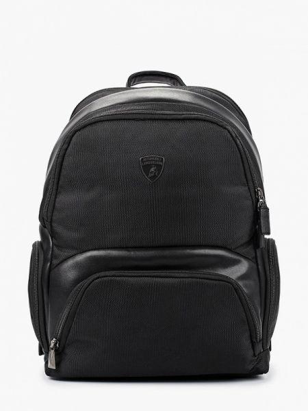 Текстильный черный рюкзак Automobili Lamborghini