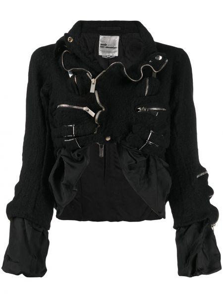 Асимметричная черная длинная куртка круглая с круглым вырезом Comme Des Garçons Noir Kei Ninomiya