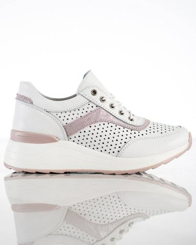 Białe sneakersy skorzane na co dzień Goodin
