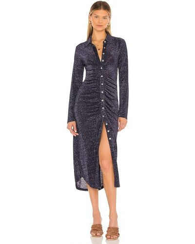 Платье рубашка - серебряное Suboo