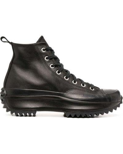 Кожаные кеды - черные Converse