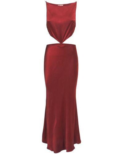 Satynowa sukienka długa Bec & Bridge