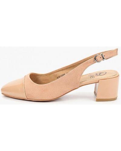 Туфли на каблуке с открытой пяткой велюровые Kylie