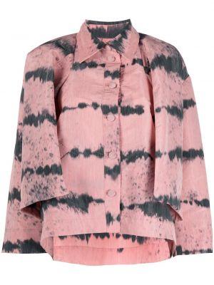 Розовый классический пиджак с воротником на пуговицах Henrik Vibskov