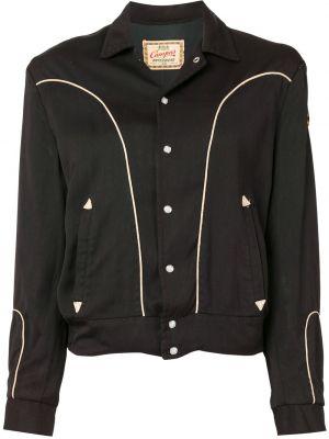 С рукавами черный топ винтажный из вискозы Fake Alpha Vintage