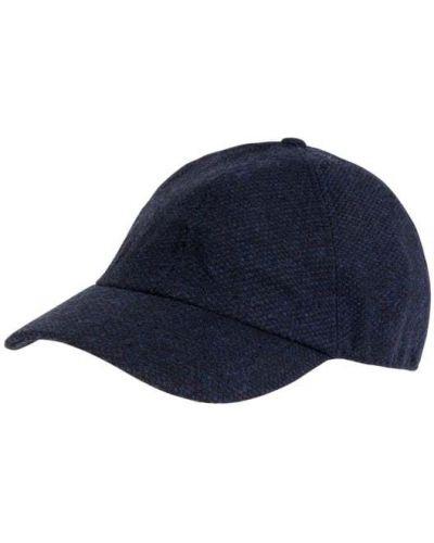 Niebieski czapka z nausznikami wełniany pikowany Müller Headwear