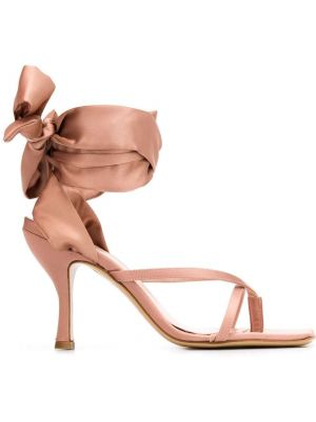 Sandały różowy otwarty Gia Couture