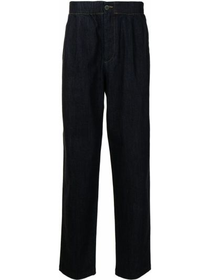 Niebieskie spodnie bawełniane Giorgio Armani