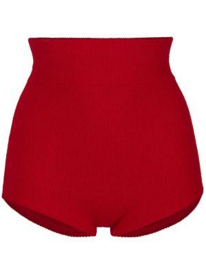 Красные брендовые с завышенной талией шорты Cashmere In Love