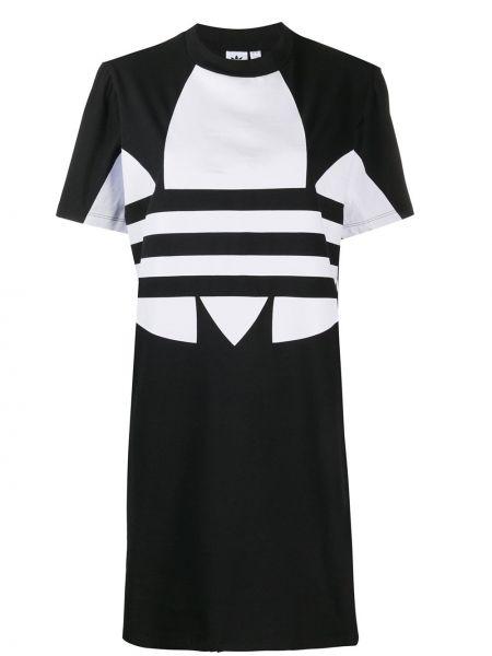 Футбольное платье мини с вырезом Adidas