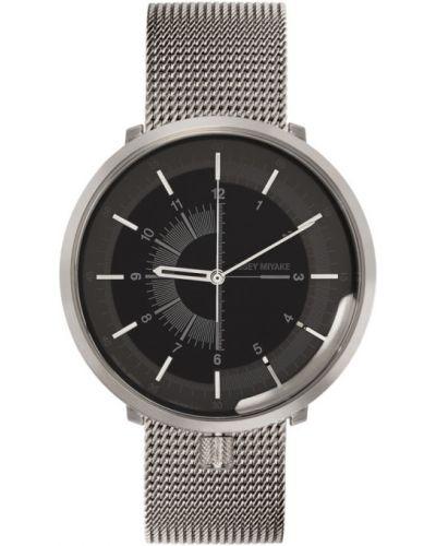 Czarny zegarek mechaniczny srebrny Issey Miyake Men