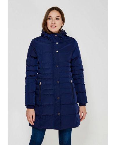 Утепленная куртка весенняя синий Qed London