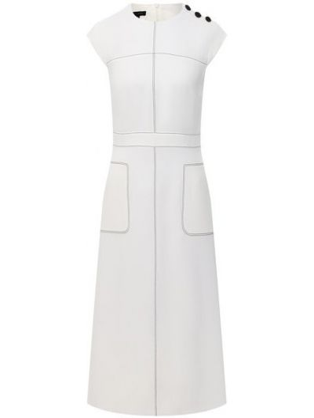 Белое платье с подкладкой Escada