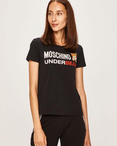 Koszula krótkie rękawy długo czarny Moschino Underwear