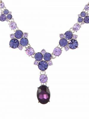 Naszyjnik łańcuch srebrny - fioletowy Givenchy Pre-owned