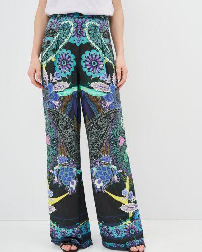 Комбинированные брюки с вышивкой Desigual