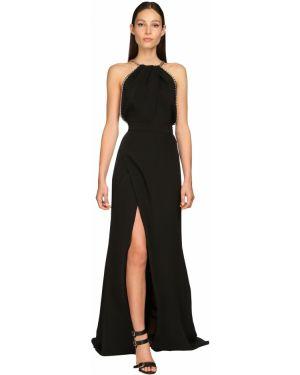 Однобортное драповое приталенное платье макси Elie Saab