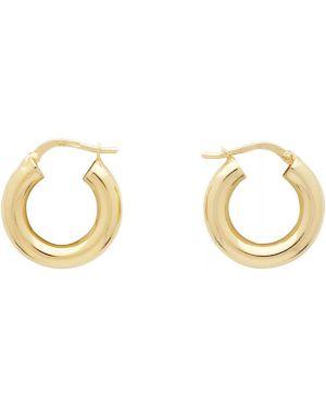 Серебряные серьги золотые серьги-кольца Bottega Veneta
