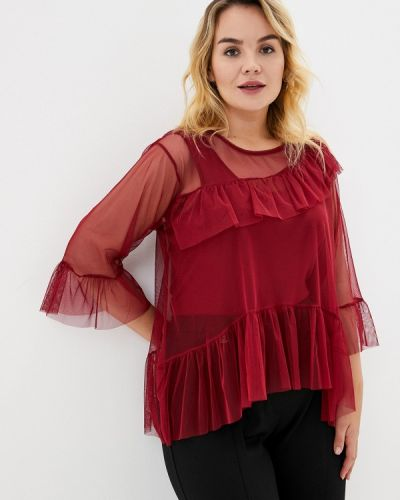 Блузка бордовый красная Keyra