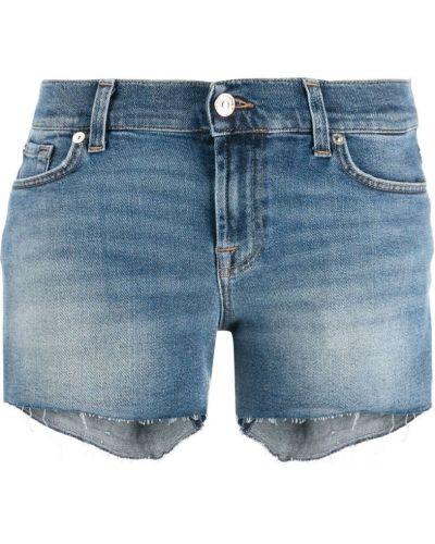 Джинсовые шорты с заниженной талией синий 7 For All Mankind