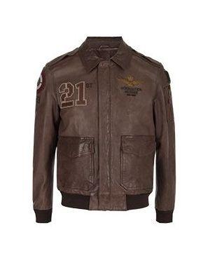 Кожаная куртка Aeronautica Militare