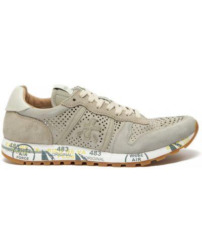 Бежевые кожаные кроссовки Premiata