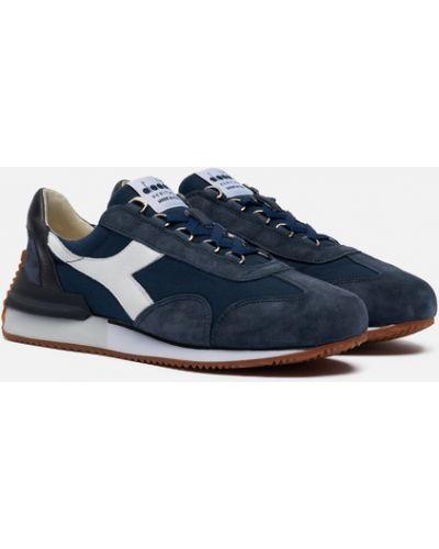 Синие текстильные кроссовки Diadora Heritage