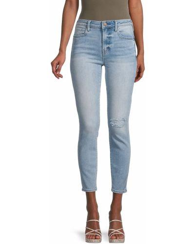 Синие зауженные джинсы-скинни с карманами True Religion