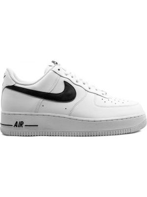 Кожаные кроссовки черные сетчатые Nike