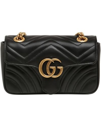 Кожаная сумка с логотипом с подкладкой Gucci