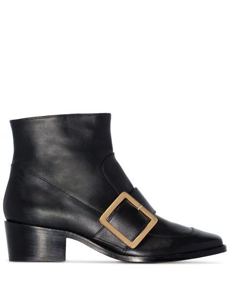 Черные ботинки на каблуке на молнии Roker