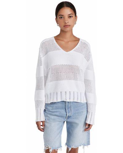Sweter bawełniany - biały Rag & Bone