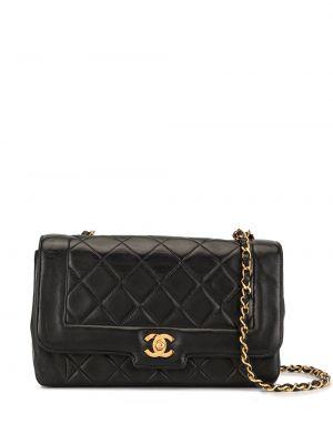 Czarna torebka na łańcuszku skórzana pikowana Chanel Pre-owned
