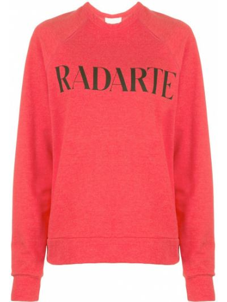 Sweter bawełniany z długimi rękawami z printem Rodarte