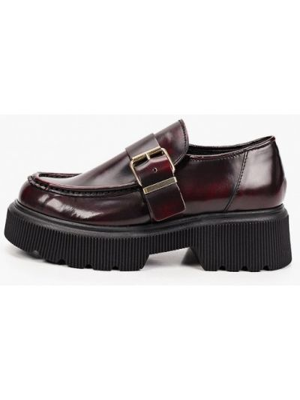 Бордовые кожаные туфли Lamania