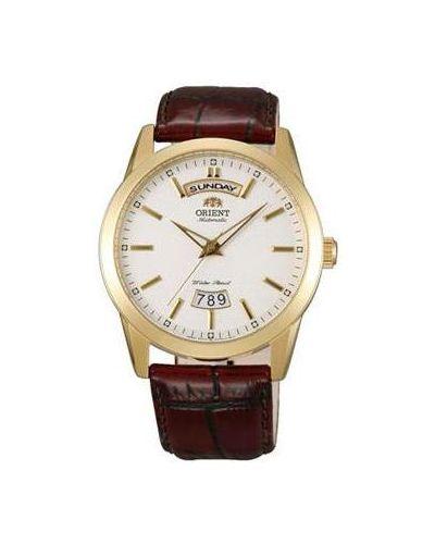 Часы с кожаным ремешком механические Orient