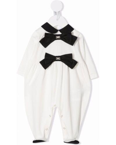 Biała piżama bawełniana Elisabetta Franchi La Mia Bambina