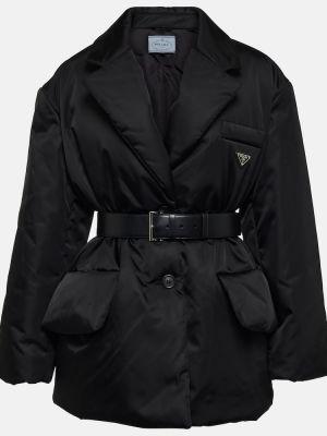 Пуховая куртка - черная Prada