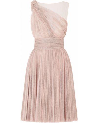 Розовое платье без рукавов с оборками Dolce & Gabbana