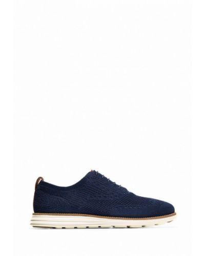 Кожаные ботинки - синие Cole Haan