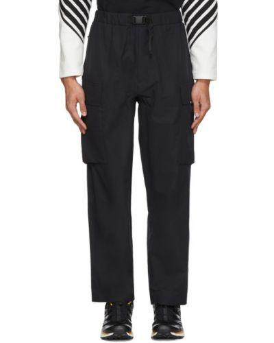 Czarne spodnie z paskiem Minotaur