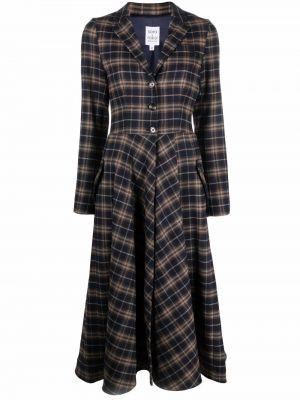 Шерстяное платье миди - синее Sara Roka