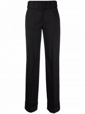 Шерстяные брюки - черные Lardini
