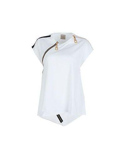 Белая спортивная футболка Nude
