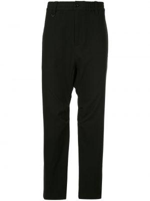 Свободные черные брюки с поясом с заниженным шаговым швом Makavelic